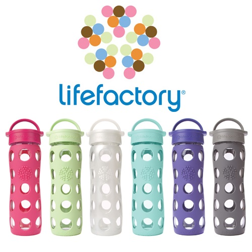 美國唯樂Lifefactory繽紛玻璃水瓶/奶瓶/配件