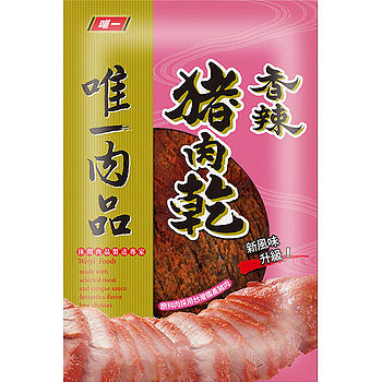 唯一豬肉乾-香辣口味130g