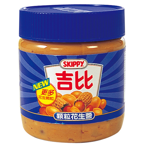 吉比花生醬^(顆粒^)340g