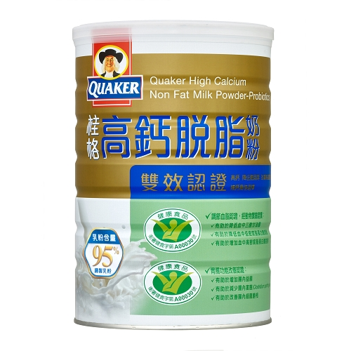 桂格高鈣脫脂奶粉-雙認證(健康三益菌/零膽固醇)1.5kg