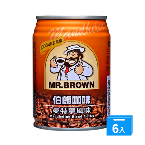 金車伯朗咖啡~曼特寧口味240ml~6入