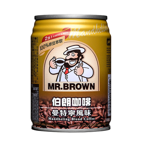 金車伯朗咖啡-曼特寧 無糖 240ml*6入