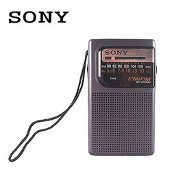 SONY二波段(AM/FM) 收音機 + 喇叭~颱風天,停電必備