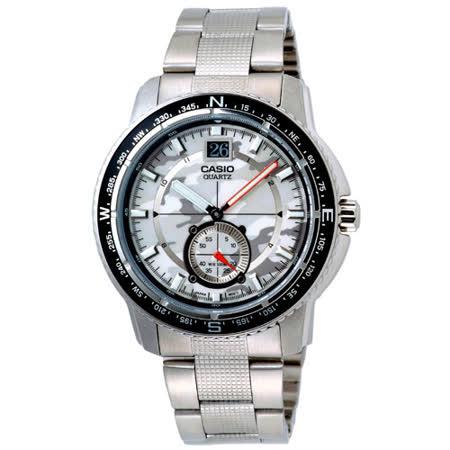 CASIO OUTGETAR系列 越野迷彩造型腕錶(白)