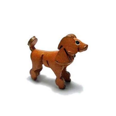 Docky-精工真皮-貴賓犬手機吊飾
