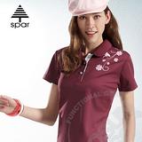 【SPAR】女款 短袖舒氣快乾POLO衫.吸濕.排汗衣.纖細身型.運動線條搭配.透氣網格/ SA101333