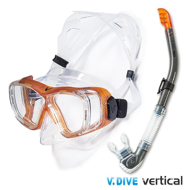 【V.DIVE C愛 買 小 舖ombo】威帶夫潛水精品組-TC401C碳纖橘