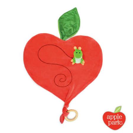 美國【Apple Park】有機棉手指玩偶安撫巾 - 蘋果小蟲
