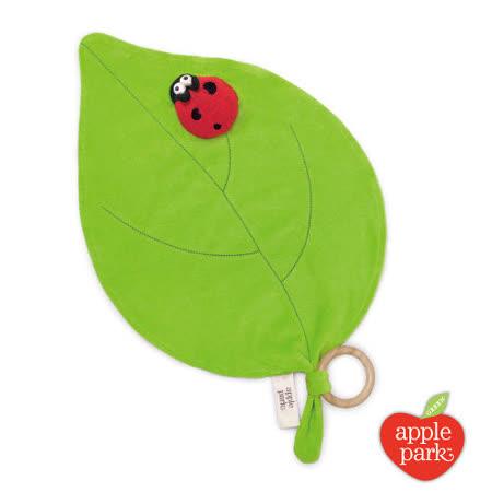 美國【Apple Park】有機棉手指玩偶安撫巾 - 綠葉瓢蟲