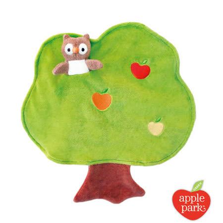 美國【Apple Park】有機棉手指玩偶安撫巾 - 大樹貓頭鷹