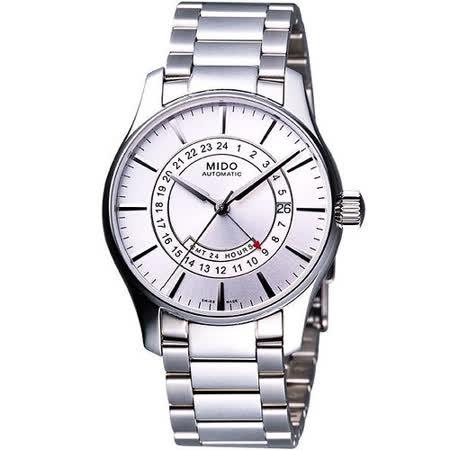 MIDO Belluna GMT永恆白晝腕錶-銀 M0014291103120