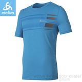 【瑞士 ODLO】男款 銀離子抗UV圓領造型短袖T恤.排汗衣 / 質輕.吸濕.排汗.抗菌.除臭 / 220892