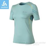 【瑞士 ODLO】女款 銀離子抗UV高彈性圓領短袖T恤.排汗衫 / 質輕.吸濕.排汗.抗UV / 346471