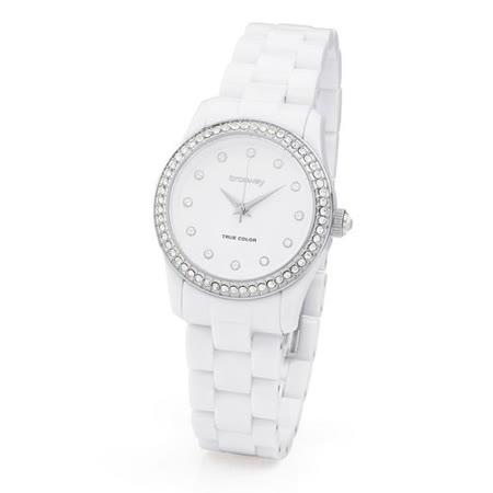 【網購】gohappy快樂購物網【brosway】WTC13   True Color Mini 女錶鑽面PC鍊帶 白色效果愛 買 麥當勞