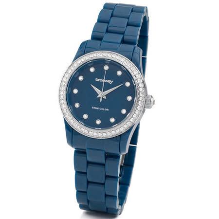 【私心大推】gohappy快樂購【brosway】WTC15   True Color Mini 女錶鑽面PC鍊帶 深黑色價錢寶 慶 路 遠東