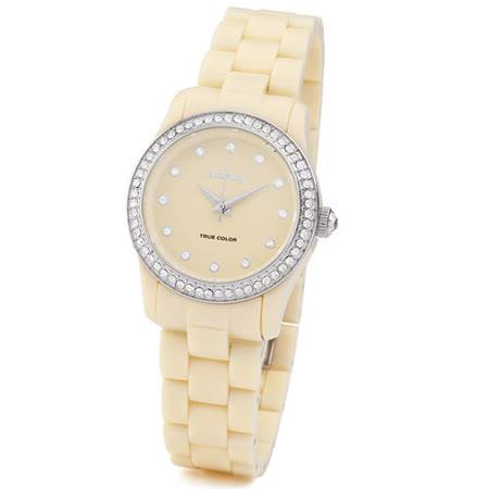 【好物分享】gohappy線上購物【brosway】WTC18   True Color Mini 女錶鑽面PC鍊帶 米黃色推薦sogo 忠孝 館
