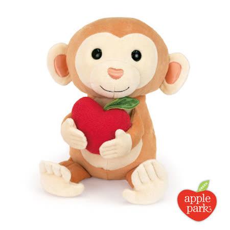 美國【Apple Park】有機棉玩偶彌月禮盒 - 蘋果小猴