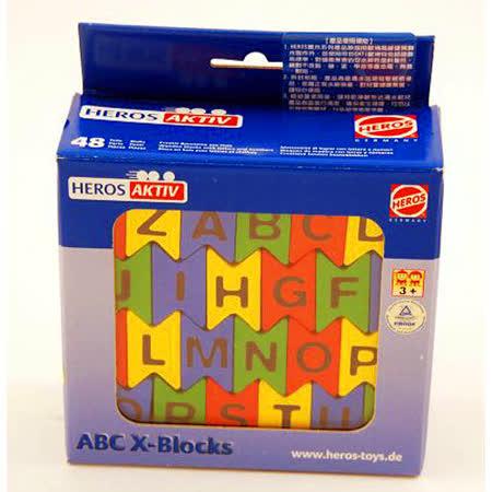 【德國HEROS木製積木】英文數字交疊方塊組-11602