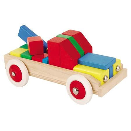 【德國HEROS木製積木】益智積木小貨車-88052