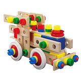 【德國HEROS木製積木】120件裝綜合積木桶-31201