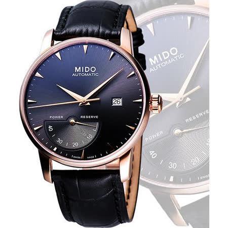 MIDO Baroncelli 動力儲存玫瑰金腕錶-黑 M86053134