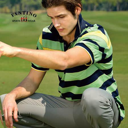 【FANTINO】男款 夏日休閒運動棉衫(綠.灰) 331351-331352