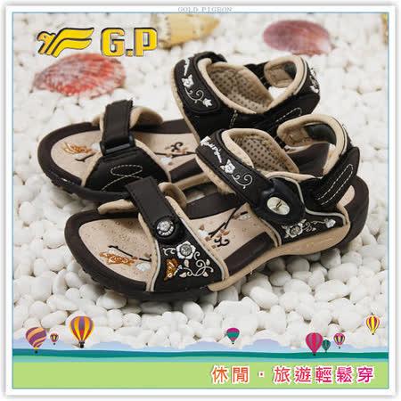 [GP]阿亮代言-母女鞋款磁釦兩用童涼鞋(尺碼26-30)-G3624B-30(咖啡色)共有三色