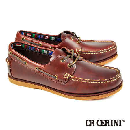 【CR CERINI】酒紅平底帆船鞋(67339-WIN)