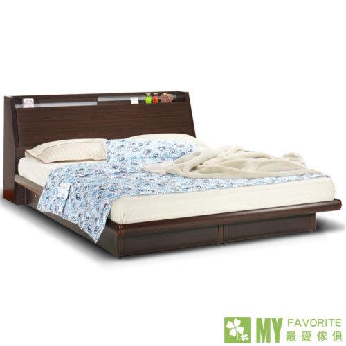 最愛傢俱 雙子星 5尺床頭箱+後掀床底+床墊 白橡色