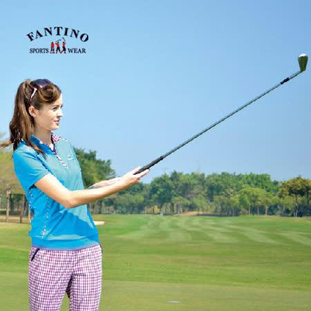 【FANTINO】女款 涼爽舒適高成份棉衫(藍.紅) 371207-371208