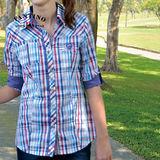 【FANTINO】OL上班族最愛最好搭純棉襯衫(彩條)374109