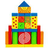 【德國HEROS木製積木】彩繪寶貝積木盒 25pces-24252