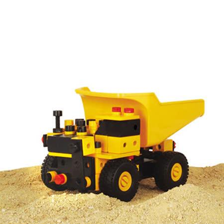 【德國HEROS木製積木】建構砂石車 130pcs-36202