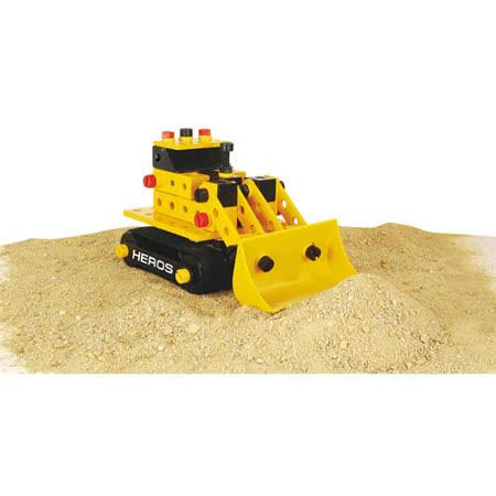【德國HEROS木製積木】建構鏟土機 110pcs-36102
