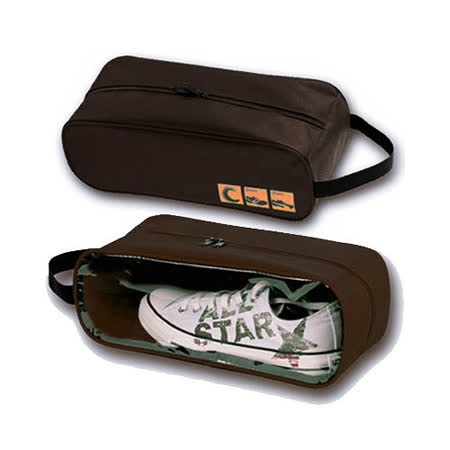 【iSFun】旅行專用*鞋用透視收納袋/咖