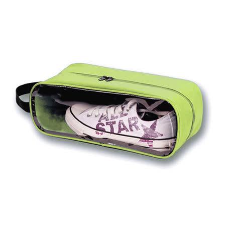 【iSFun】旅行專用*鞋用透視收納袋/綠