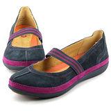 CLARKS_克拉克 (女款)  輕量柔軟透氣平底休閒鞋-藍色