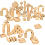 【德國HEROS木製積木】100件裝原色積木桶-10131