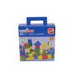 【德國HEROS木製積木】彩色積木禮盒組 50pcs-21252