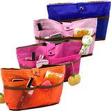 【iSFun】隨身多分隔包中袋/四色可選
