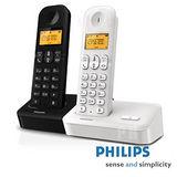 【飛利浦PHILIPS】數位無線電話 D1501B(黑)/501W(白)