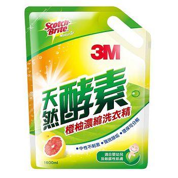 3M天然酵素橙柚洗衣精補充包1600ML