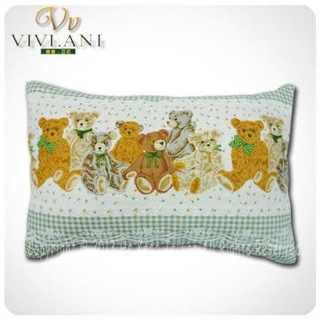 《VIVI.ANI》美國泰勒.比利100%天然兒童乳膠枕-綠