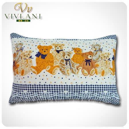 《VIVI.ANI》美國泰勒.比利100%天然兒童乳膠枕-藍