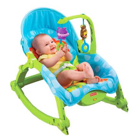 費雪牌 Fisher-Price 可愛動物可攜式兩用安撫躺椅