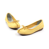 CLARKS_克拉克 (女款) 氣質芭蕾蝴蝶結平底包鞋-黃色
