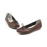 CLARKS_克拉克 (女款) 氣質芭蕾蝴蝶結平底包鞋-咖啡色