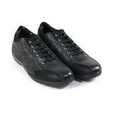 STONEFLY 義大利時尚品牌.簡約線條綁帶式氣墊鞋(男款)-黑色