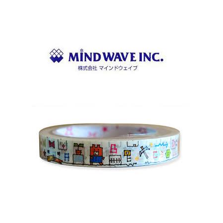 日本 MIND WAVE 可愛膠帶-手繪小熊