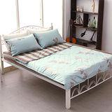 《萊茵湖畔》100%純棉雙人四件式涼被床包組(台灣製)